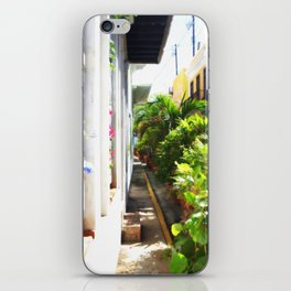 tropical alley iPhone Skin