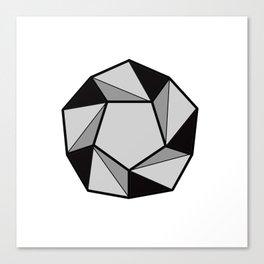 Geometric shapes 2. prism art . black line prism for living room, Home Decor Graphicdesign Canvas Print