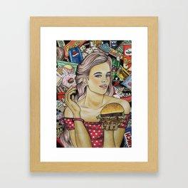 Unhealthy Framed Art Print