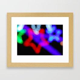 Christmas bokeh VI Framed Art Print