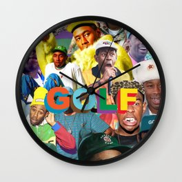 collage tyler the head Wall Clock