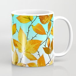 Autumn Leaves Azure Sky Coffee Mug