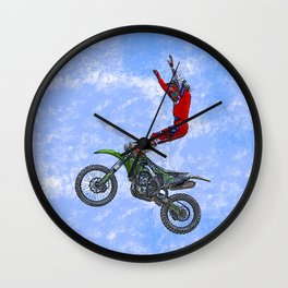 MotoCross Aerial Foot Grab Wall Clock