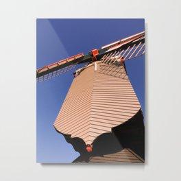 1745 Windmill sundown geometrics Metal Print