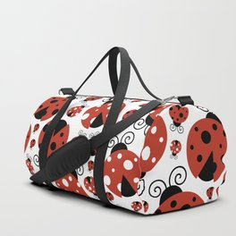 Ladybugs (Ladybirds, Lady Beetles) - Red Black Duffle Bag