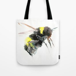 Bumblebee, bee art flying bee design honey bee wildlife Tote Bag