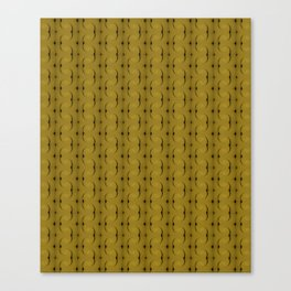 Ocre Lace Pattern Canvas Print