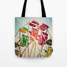 Colorful Ferris Wheel Cars Tote Bag