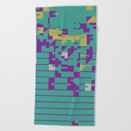 Abstract 8 Bit Art Beach Towel