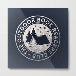 Outdoor Book Readers Club logo Metal Print