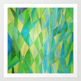 Cool Green Art Print