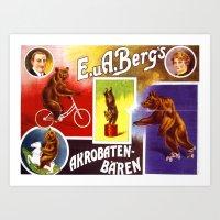 bears Art Prints featuring BEARS by Kathead Tarot/David Rivera