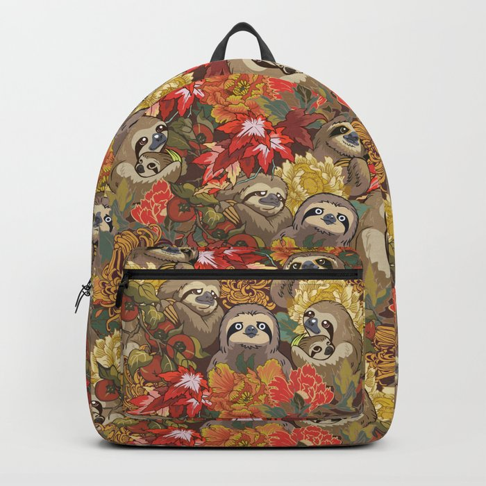 Because Sloths Autumn Backpack