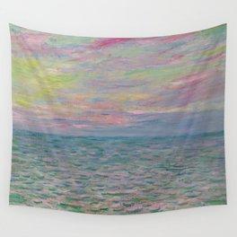 """Claude Monet """"Coucher de soleil à Pourville, pleine mer"""" Wall Tapestry"""