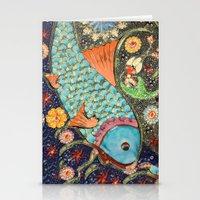 koi Stationery Cards featuring Koi by Joke Vermeer