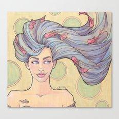 Tattooed Mermaid 7 Canvas Print