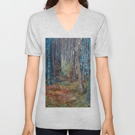 Deep in the forest by Ans Duin Unisex V-Neck