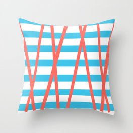 Red Tape Throw Pillow