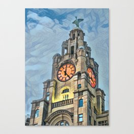 It's 5 o clock somewhere - Liverpool Canvas Print