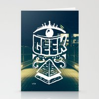 geek Stationery Cards featuring GEEK by YTRKMR
