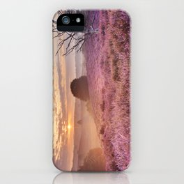 III - Blooming heather at sunrise, Posbank, The Netherlands iPhone Case