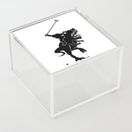 Big foot playing polo on a T-rex Acrylic Box