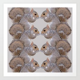Squirrel Whispers Art Print