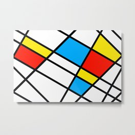 Related Colored Lines Metal Print