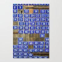 numbers Canvas Prints featuring Numbers by Marieken