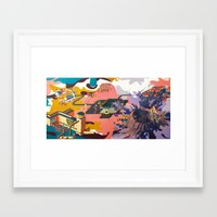 map Framed Art Prints featuring map by Robert Deutsch