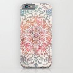 Autumn Spice Mandala in Coral, Cream and Rose Slim Case iPhone 6