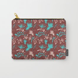Fantail Frolic Rust Pattern Carry-All Pouch