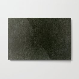 Green porous leather sheet texture abstract Metal Print
