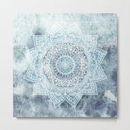 DEEP BLUE MANDALA Metal Print