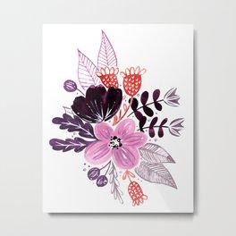 Painted Purple Bouquet Metal Print