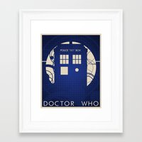 doctor who Framed Art Prints featuring Doctor Who by LukeMorgan