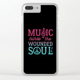 Music Cures the Wounded Soul Clear iPhone Case