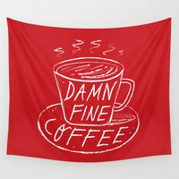 lynch Wall Tapestries featuring Damn Fine Coffee by Oliver Lake