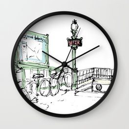 Sketches from Paris 07 Wall Clock