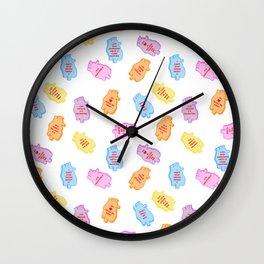 poe conversation hearts Wall Clock