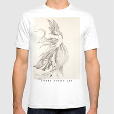 Fin and Feather Gown White Mens Fitted Tee MEDIUM