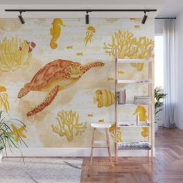 Hawksbill Sea Turtles Wall Mural