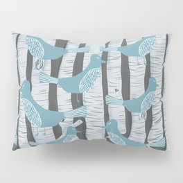 For the Birds and Birch Trees Pillow Sham