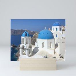 Santorini, Greece Mini Art Print