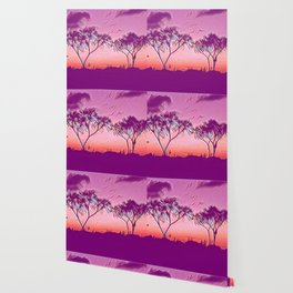 Sunset graphic print - more styles Wallpaper