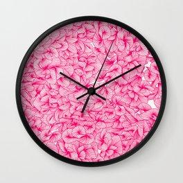Pink Inklings Wall Clock
