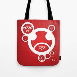 WHITE - Type Face Tote Bag