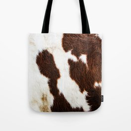 Cowhide Brown Spots Tote Bag