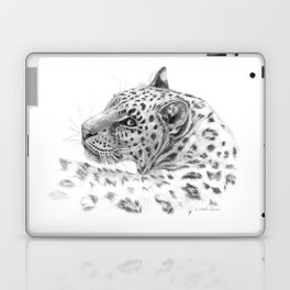 Leopard - Glance back Laptop & iPad Skin