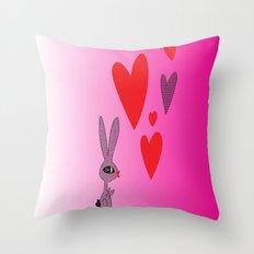 Lovy Bunny Throw Pillow